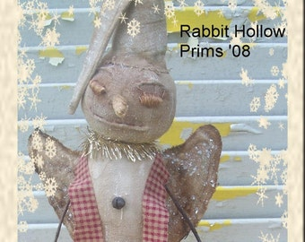 Primitive Christmas  Winter Frost Snow angel