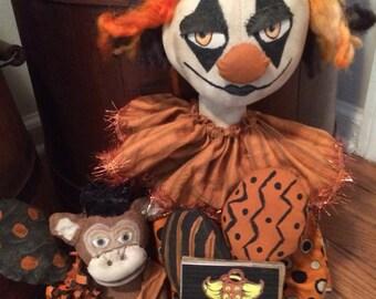 Primitive Halloween Clovis & Cheech
