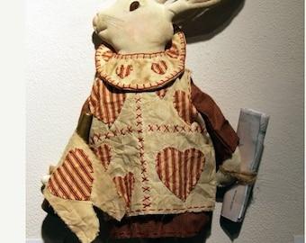 Primitive Doll, Rabbit,  Alice in Wonderland, White Rabbit