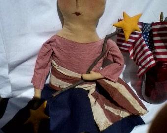 Primitive Americana Lady Liberty