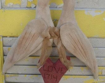 Primitive Valentine's Day Love Doves