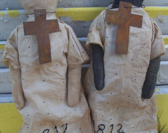 Primitive Doll, Church Dolls- ready to ship