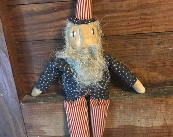 Primitive Doll Uncle Sam