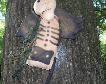 Primitive Halloween Sugar Skull Skeleton
