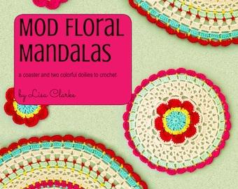 Mod Floral Mandalas Crochet Pattern and Tutorial