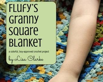 Flufy's Granny Square Blanket Crochet Pattern