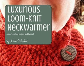 Luxurious Neckwarmer Loom Knitting Pattern