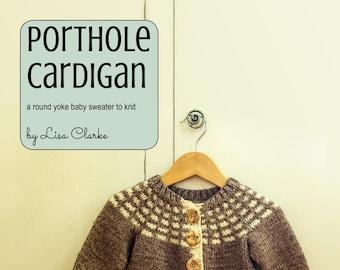 Porthole Cardigan Knitting Pattern