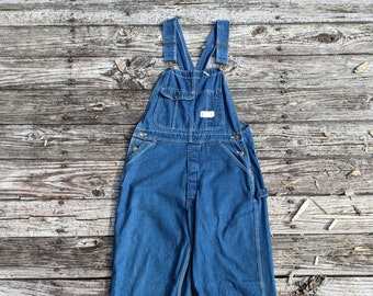 Perfectly Broken in Vintage Red Camel Brand Overalls 34x32