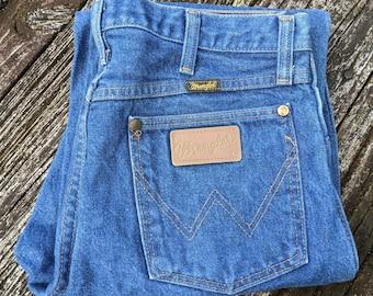 Made in USA Vintage Wrangler Denim Jeans 31x32