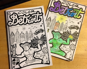 Color Detroit · coloring book