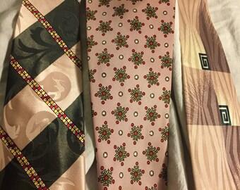 Think Pink: Vintage Necktie Triad