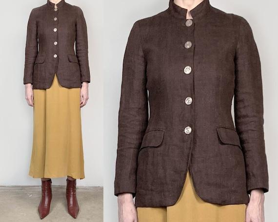 Vintage Brown Linen Jacket