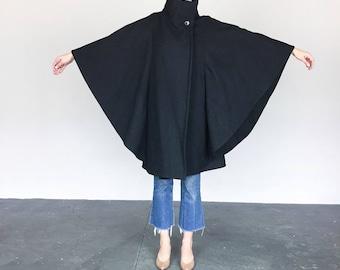 Black Wool Cape (OS)