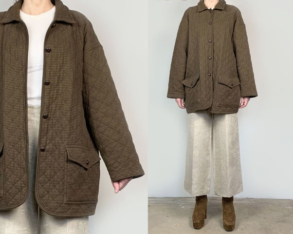 Quilted Cotton Velvet Chore Coat