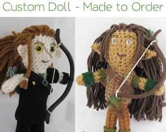 Dungeons And Dragons Custom Character Doll, DnD Character Amigurumi Plush, RPG and Gaming Art