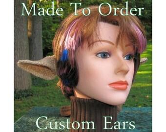 Custom Elf, Satyr, Faun Ears, Fantasy Costume Cosplay - Made To Order Crochet Headband