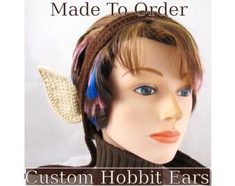 Cosplay Hobbit Ears, Halfling Vulcan or Elf Costume Ears - Made to Order