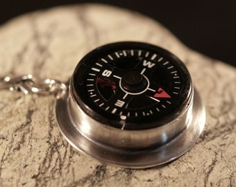 Find Your Way Argentium silver compass necklace