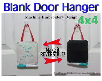 ITH 4x4 Blank DOOR HANGER Machine Embroidery Applique Design