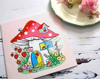 Pink Pixie Cottage card