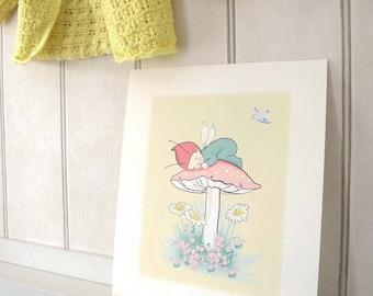 Little Pixie unframed print