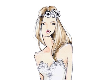 Penny-Bride Illustration-Bridal Sketch-Bride Art-Illustration-Brooke Hagel-Brooklit-Bridal Fashion Illustration