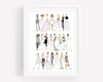 Croqui Collection - Fashion Illustrations - by Brooke Hagel