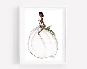Billowing Bride-Bride Illustration-Bridal Sketch-Bride Art-Illustration-Brooke Hagel-Brooklit-Bridal Fashion Illustration