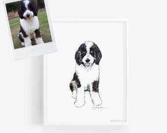 Custom Pet Portrait-Custom Dog Illustration-Pet Illustration-Custom Dog Sketch-Custom Pet Illustration-By Brooke Hagel-Pet Portrait Painting