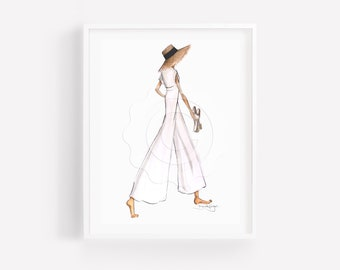 Amanda-Fashion Illustration-Print-Chanel-Illustration-Brooke Hagel-Brooklit Illustration-Chanel Sketch