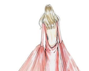 Jules-Fashion Illustration-Sketch-Fashion Print-Fashion Art-Brooke Hagel-Brooklit-Prabal