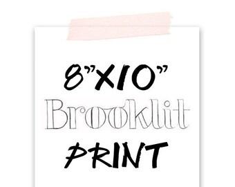 Any 8x10 Fashion Illustration-Print-Brooklit-Brooke Hagel-Fashion Sketch