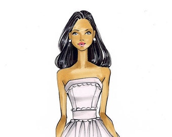 Sophia-Bride Illustration-Bridal Sketch-Bride Art-Illustration-Brooke Hagel-Brooklit-Bridal Fashion Illustration