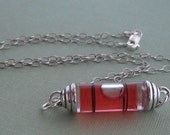 Rosy  Red Spirit Level Necklace