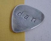 Guitar pick. Sterling silver. monogrammed