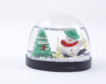 1ce33927f14dd Vintage Russ Snow Globe Christmas Snow Ball Toy Snowman Christmas Tree  Ornament Home Design