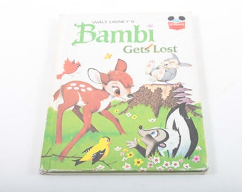 Bambi Gets Lost, Walt Disney, VIntage, Story, Book, Illustrated, Pictures, Bedtime, Children's, Tale, Classic, Deer ~ The Pink Room ~ 170514