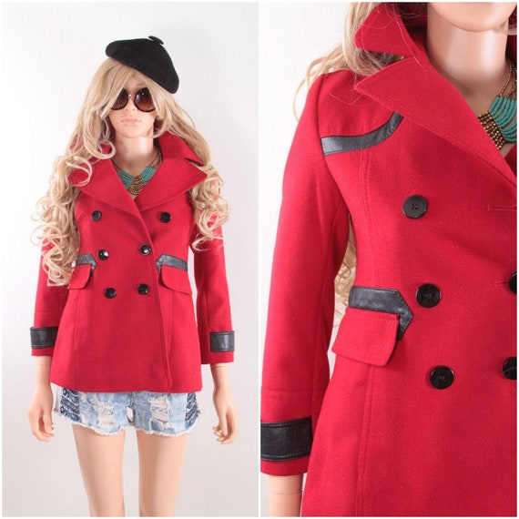 Gorgeous XS Red Jacket, Military, Black Buttons, W