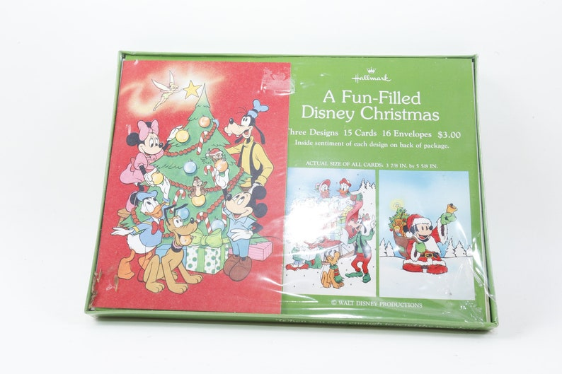 Disney Christmas Cards.Walt Disney Christmas Cards Envelopes Set Hallmark Holiday Design Children Vintage Toys 161008