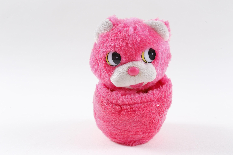 Popples Knockoff Pink Puppy Folding Animal Soft Plush Toy Etsy