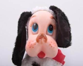 Rushton, Plush, Stuffed Animal, Vintage, dalmatian, 1960s, 60s, Pastel Colors, Nursery, Fire Dog, Spotted Dog ~The Pink Room ~  161011