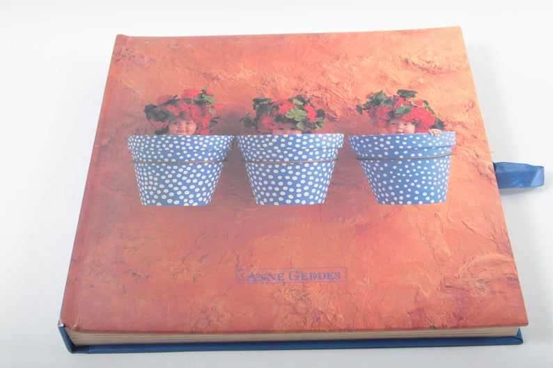 Etsy & Anne Geddes Babies in Flower Pots Vintage Photo Album Scrapbook Memory Book Adorable Pictures Babies in Pots ~ The Pink Room ~ 170518