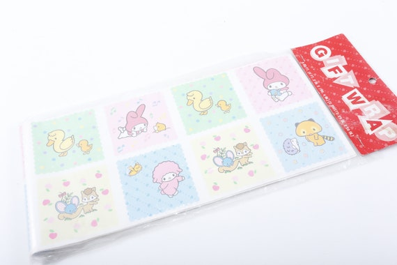 Vintage Rare Sanrio My Melody 80s 90s Mip Gift Wrap Cute Animals Party Decor Design Kids Children Collection 161229