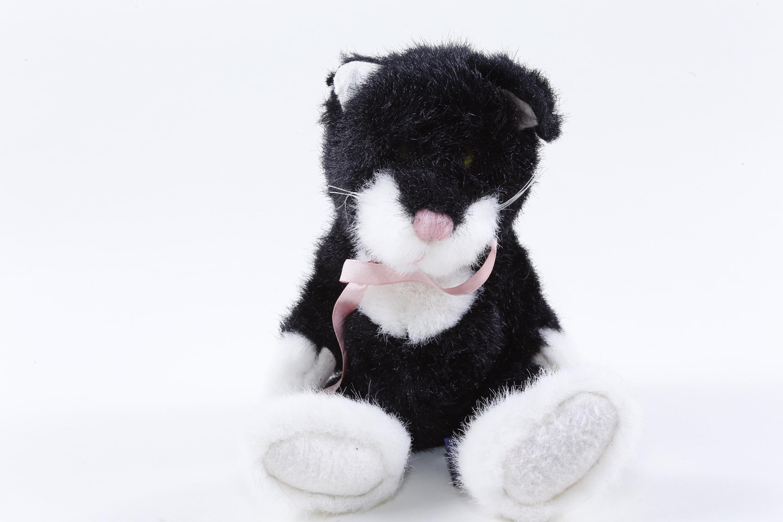Vintage Boyds Bears Tbc Black White Cat Soft Plush Etsy