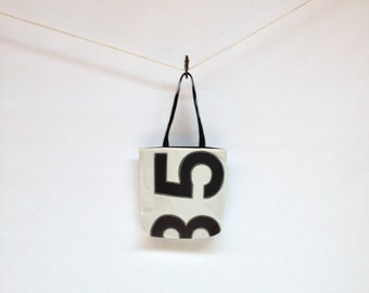 Recycled Sail Cloth Tote - Black Number 635