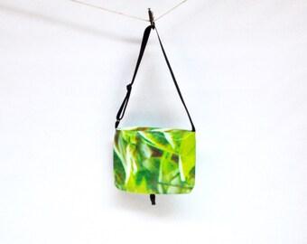 Reclaimed Jungle Vinyl Upcycled Messenger Bag