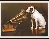 RCA Victor Nipper Dog Poster Print