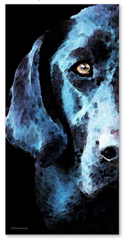 3e8c4b9d48ace Dog Art Print Painting Hunting Hunter Labs Black Lab Labrador