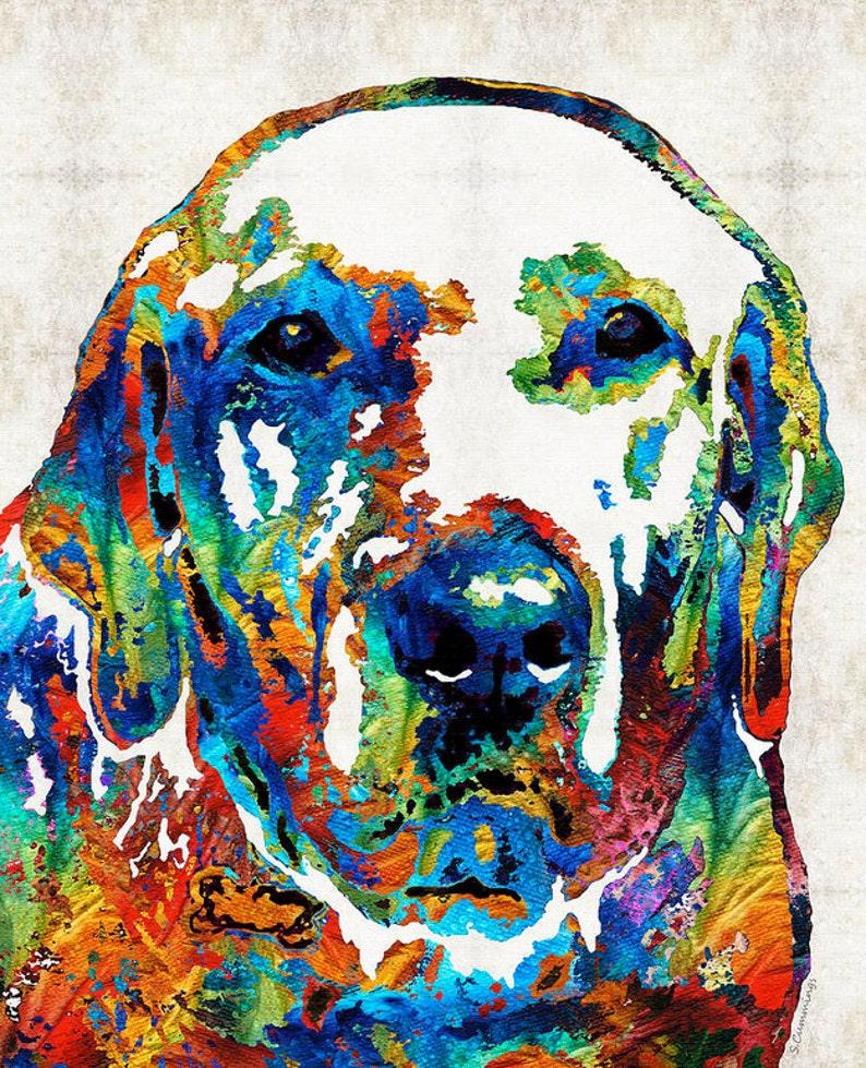 8c12c7399f2c7 Labrador Retriever Art Colorful Lab Dog PRINT from Painting